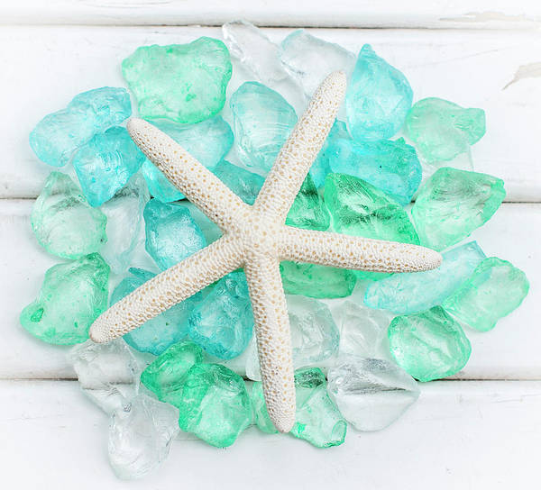 Photograph - Starfish And Sea Glass by Terry DeLuco