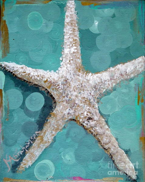 Starfish Goldie Art Print