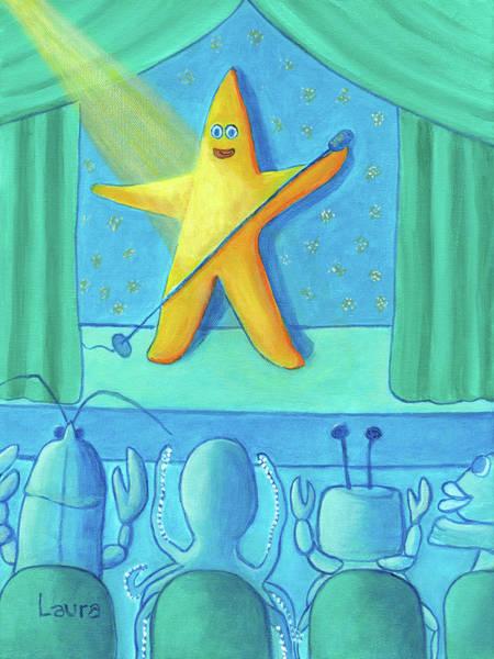 Wall Art - Painting - Starfish by Laura Zoellner