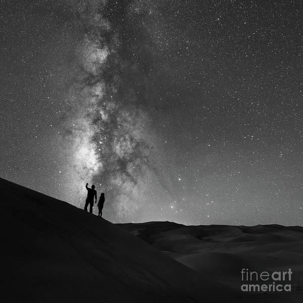Romeo And Juliet Wall Art - Photograph - Stargazer Bw by Michael Ver Sprill
