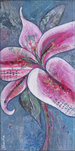 Blooming Painting - Stargazer I by Shadia Derbyshire