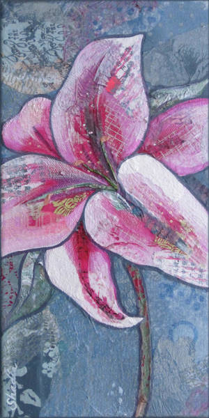 Lilies Painting - Stargazer IIi by Shadia Derbyshire