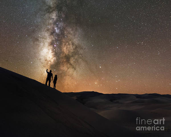Romeo And Juliet Wall Art - Photograph - Stargazers Under The Night Sky by Michael Ver Sprill