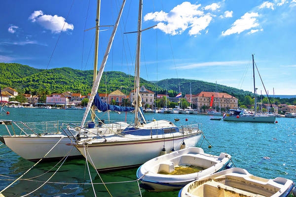 Starigrad Photograph - Stari Grad On Hvar Island Sailing Destination by Brch Photography