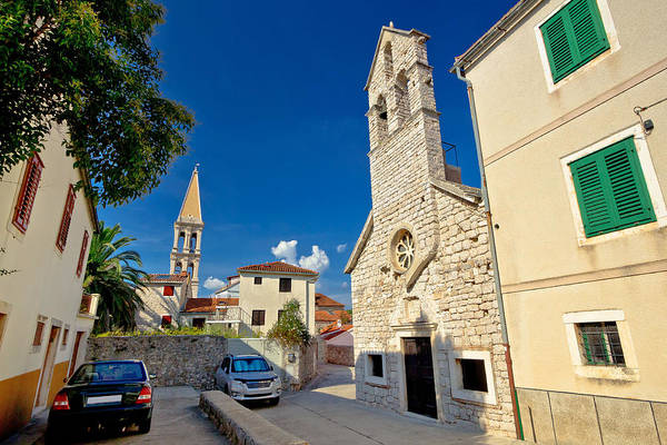 Starigrad Photograph - Stari Grad On Hvar Island Stone Streets by Brch Photography