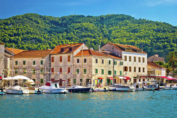 Starigrad Photograph - Stari Grad Waterfront View Un Hvar by Brch Photography