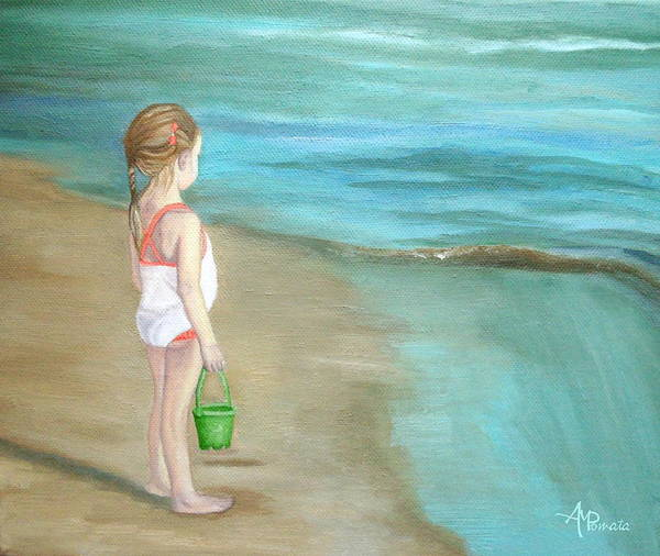 Painting - Staring At The Sea by Angeles M Pomata