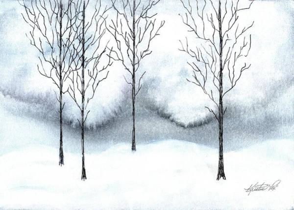 Mixed Media - Stark Watercolor And Ink by Kristen Fox