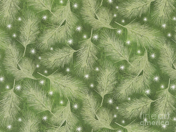 Pine Cones Painting - Starlight Christmas Viii by Mindy Sommers
