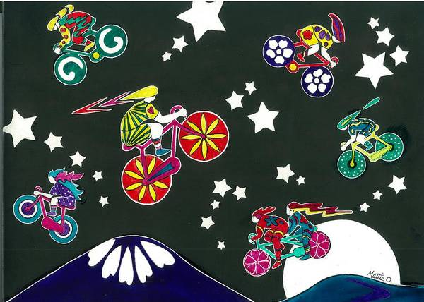 Pikes Peak Painting - Starlight Spectacular 2010 by Mattie O