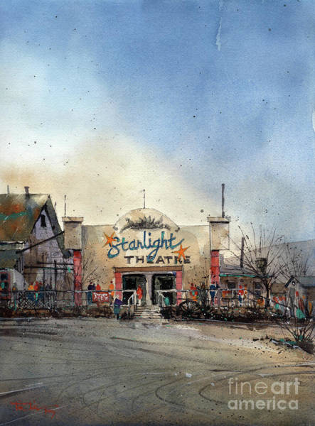Ghost Town Wall Art - Painting - Starlight Theater by Tim Oliver