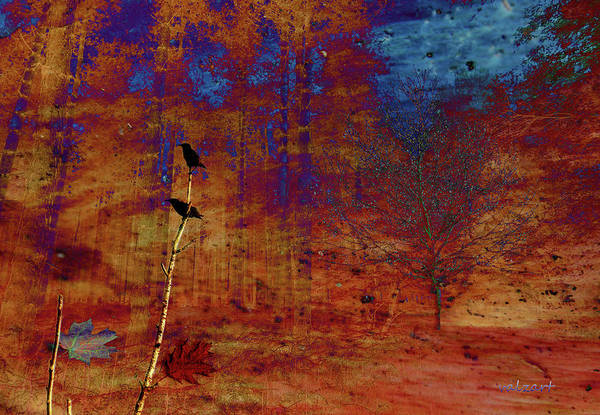 Digital Art - Starlings In The Woods by Valerie Anne Kelly