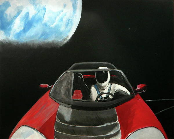 Starman Painting - Starman 1 by Andrea Cole