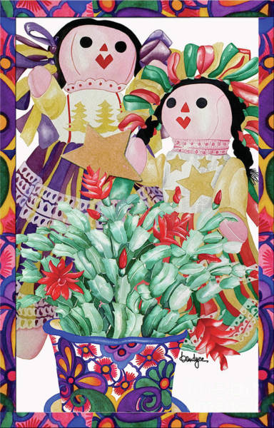 Painting - Starring The Christmas Cactus by Kandyce Waltensperger