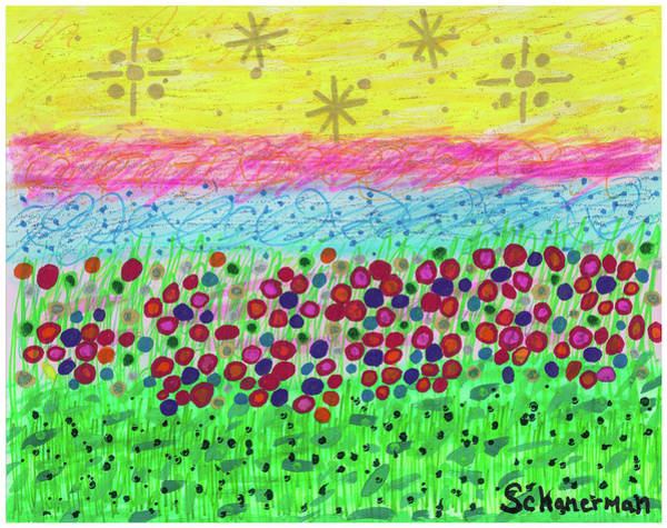 Painting - Starry Days Of Summer by Susan Schanerman