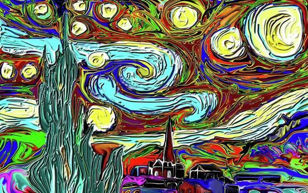 Digital Art - Starry Night 2 by Darren Cannell