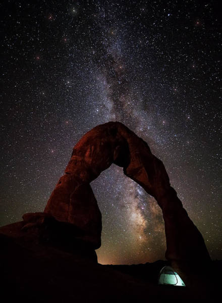 Delicate Arch Wall Art - Photograph - Starry Night At Delicate Arch by Darren White