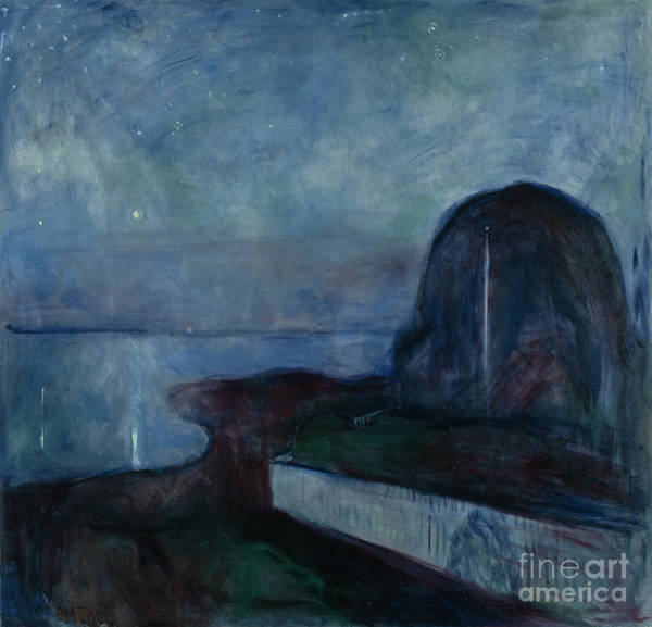 Dali Painting - Starry Night By Edvard Munch by Esoterica Art Agency