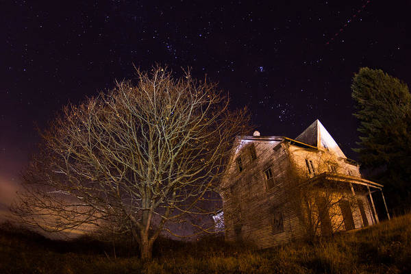 Photograph - Starry Night Farmhouse by Kirkodd Photography Of New England