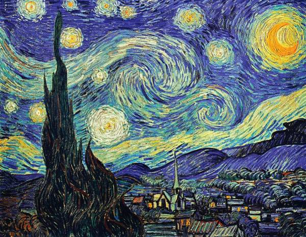 Painting - Starry Night by Joy of Life Art Gallery - Vincent Van Gogh