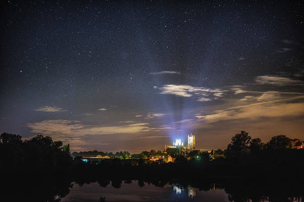 Photograph - Starry Night Over Ely by James Billings