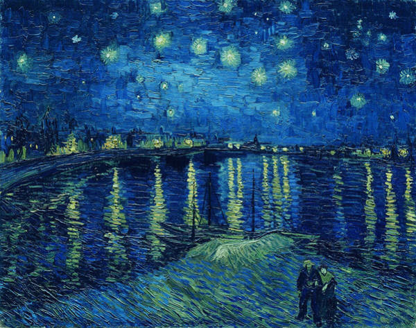 Star Cluster Painting - Starry Night Over The Rhone, 1888 by Vincent Van Gogh