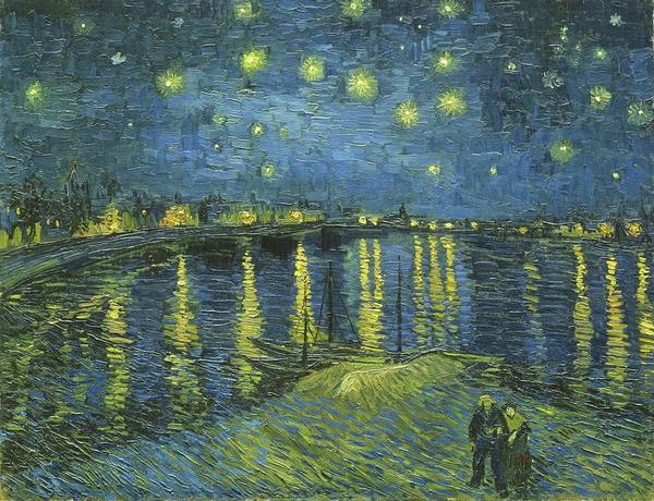 Painting - Starry Night Over The Rhone Van Gogh 1888 by Vincent Van Gogh