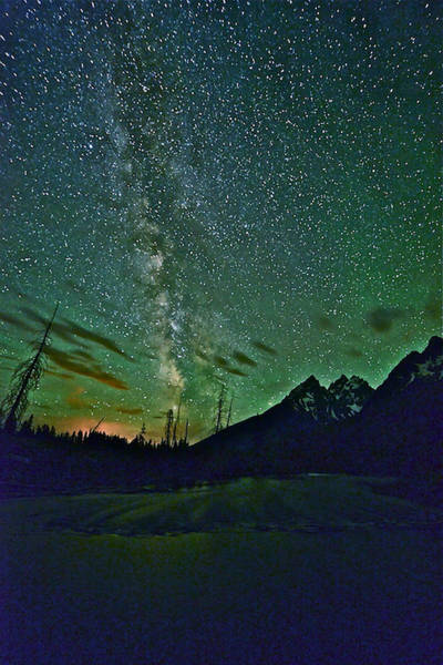Photograph - Starry Night Over The Tetons by Don Mercer