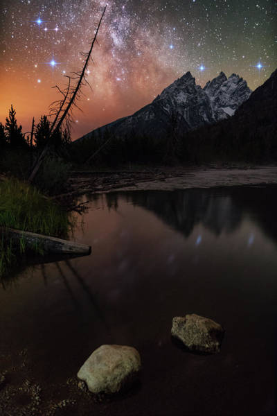 2017 Photograph - Starry Night Seclusion At String Lake by Mike Berenson