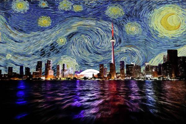 Painting - Starry Night Toronto Canada by Movie Poster Prints