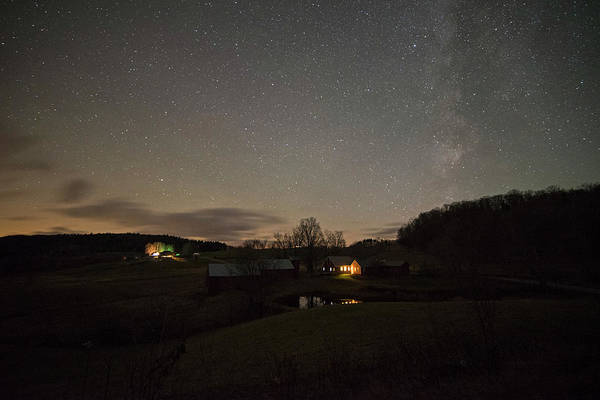 Photograph - Starry Skies Over Jenne Farm Reading Vt by Toby McGuire