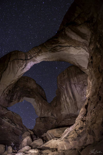 Photograph - Starry Sky At Delicate Arch by Owen Weber