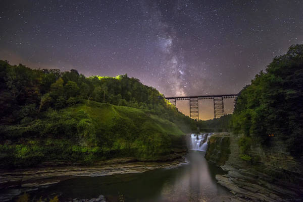 Wny Wall Art - Photograph - Starry Sky At Letchworth by Mark Papke