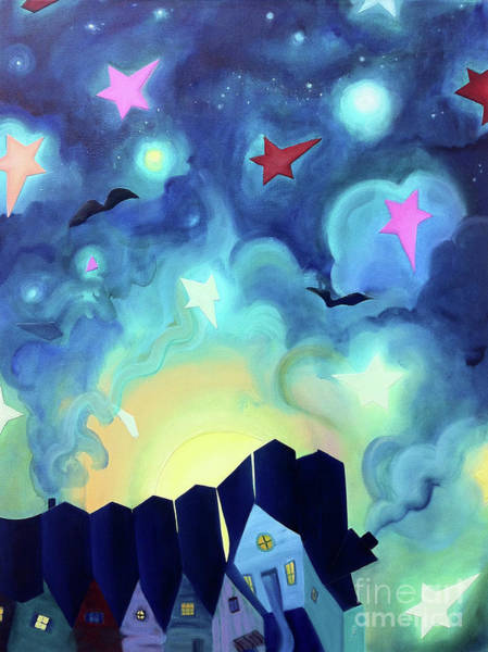 Cathy Painting - Starry Sky by Cathy Jacobs