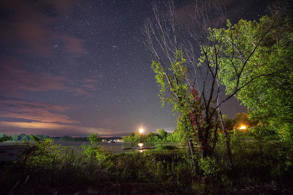 Photograph - Starry Sky Over Lake Champlain New York by Toby McGuire