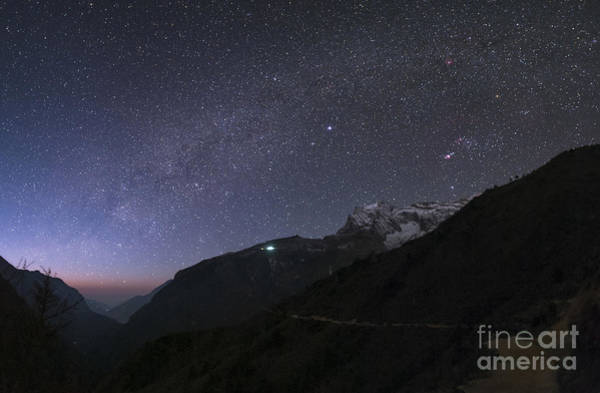 Wall Art - Photograph - Starry Sky Over The Himalayas, Nepal by Babak Tafreshi