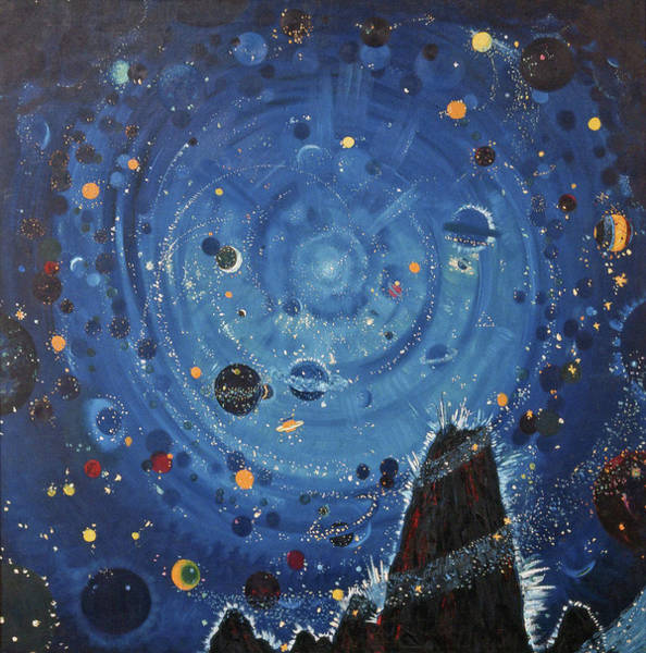 Constellation Painting - Starry Sky  by Wenzel Hablik