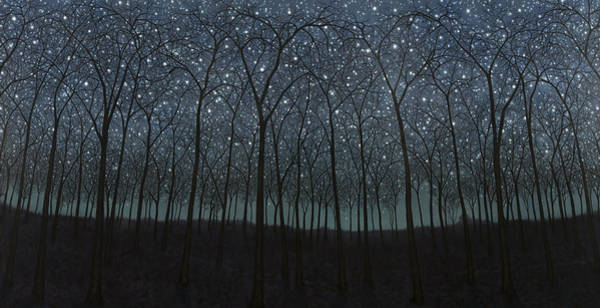 Painting - Starry Trees by James W Johnson