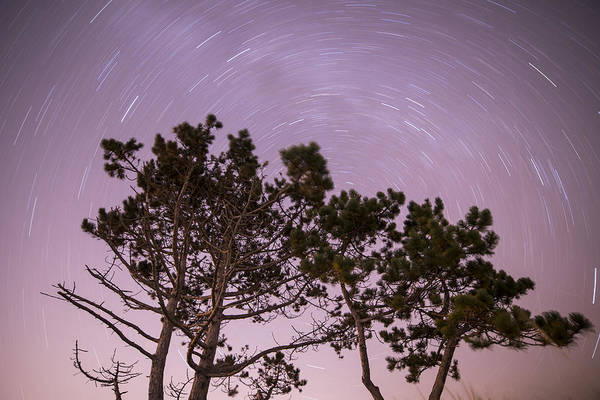 Photograph - Starry Vortex Long Exposure Over Wingaersheek Beach Gloucester Ma by Toby McGuire