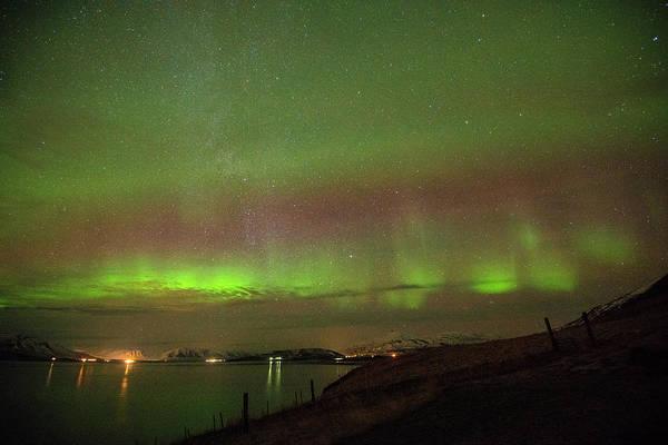 Photograph - Stars And Northern Lights by Matt Swinden