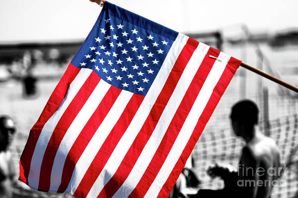 Photograph - Stars And Stripes At Asbury Park by John Rizzuto