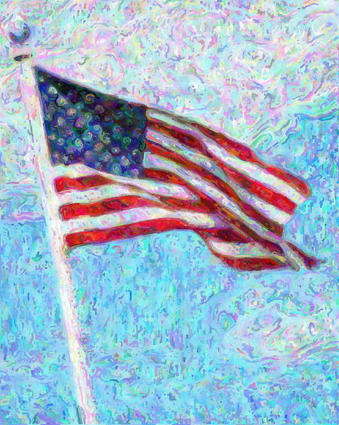 Stripe Mixed Media - Stars And Stripes by Colleen Kammerer