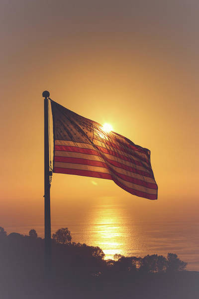 Mount Soledad Wall Art - Photograph - Stars And Stripes by Rebecca Wineka