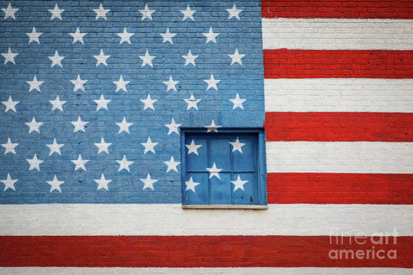 Photograph - Stars And Stripes Wall by Inge Johnsson
