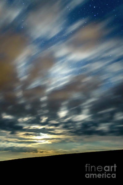 Photograph - Stars Clouds And Moon by Thomas R Fletcher