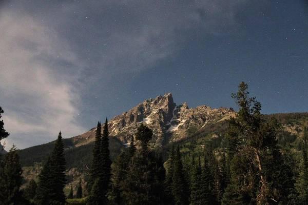 Photograph - Stars Over Grand Teton by M C Hood