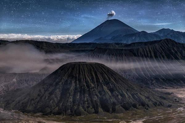 Rauch Wall Art - Photograph - stars over Mount Bromo - Java by Joana Kruse