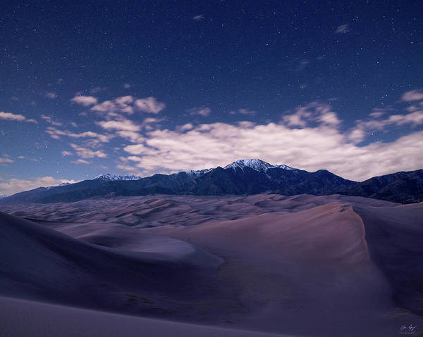 Photograph - Stars Over The Great Sand Dunes by Aaron Spong