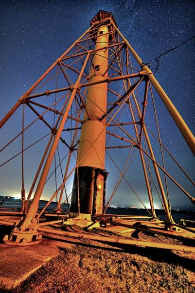 Photograph - Stars Over The Marblehead Light Tower Marblehead Ma by Toby McGuire