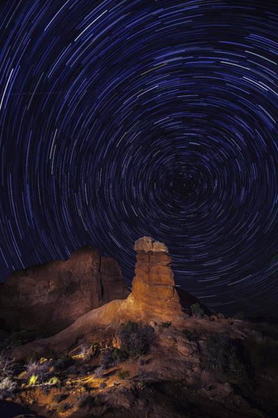 Photograph - Stars Trails by Matt Cohen